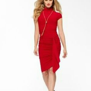 NWT Cache mock neck red dress size 2